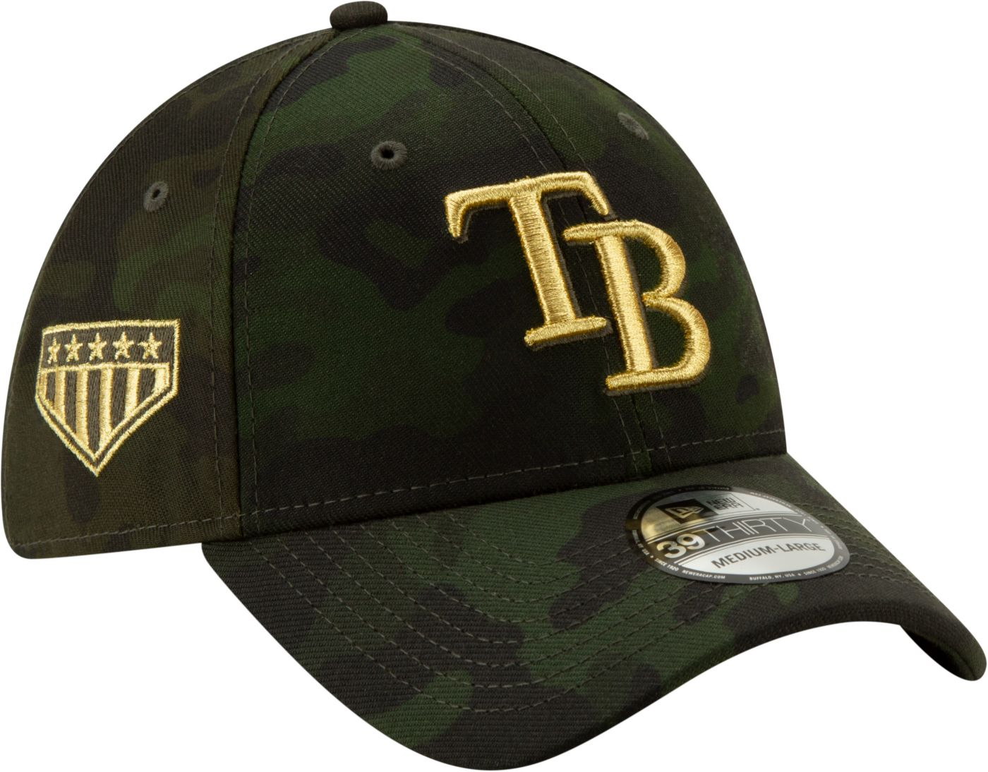 New Era Men's Tampa Bay Rays 39Thirty Armed Forces Stretch Fit Hat