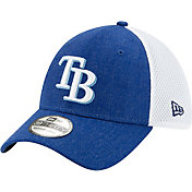 New Era Men's Tampa Bay Rays Blue 39Thirty Heather Neo Stretch Fit Hat