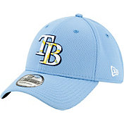 New Era Men's Tampa Bay Rays 39Thirty Blue Batting Practice Stretch Fit Hat
