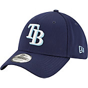 New Era Men's Tampa Bay Rays Navy 39Thirty Clubhouse Stretch Fit Hat