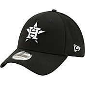 New Era Men's Houston Astros 39Thirty Black Batting Practice Stretch Fit Hat