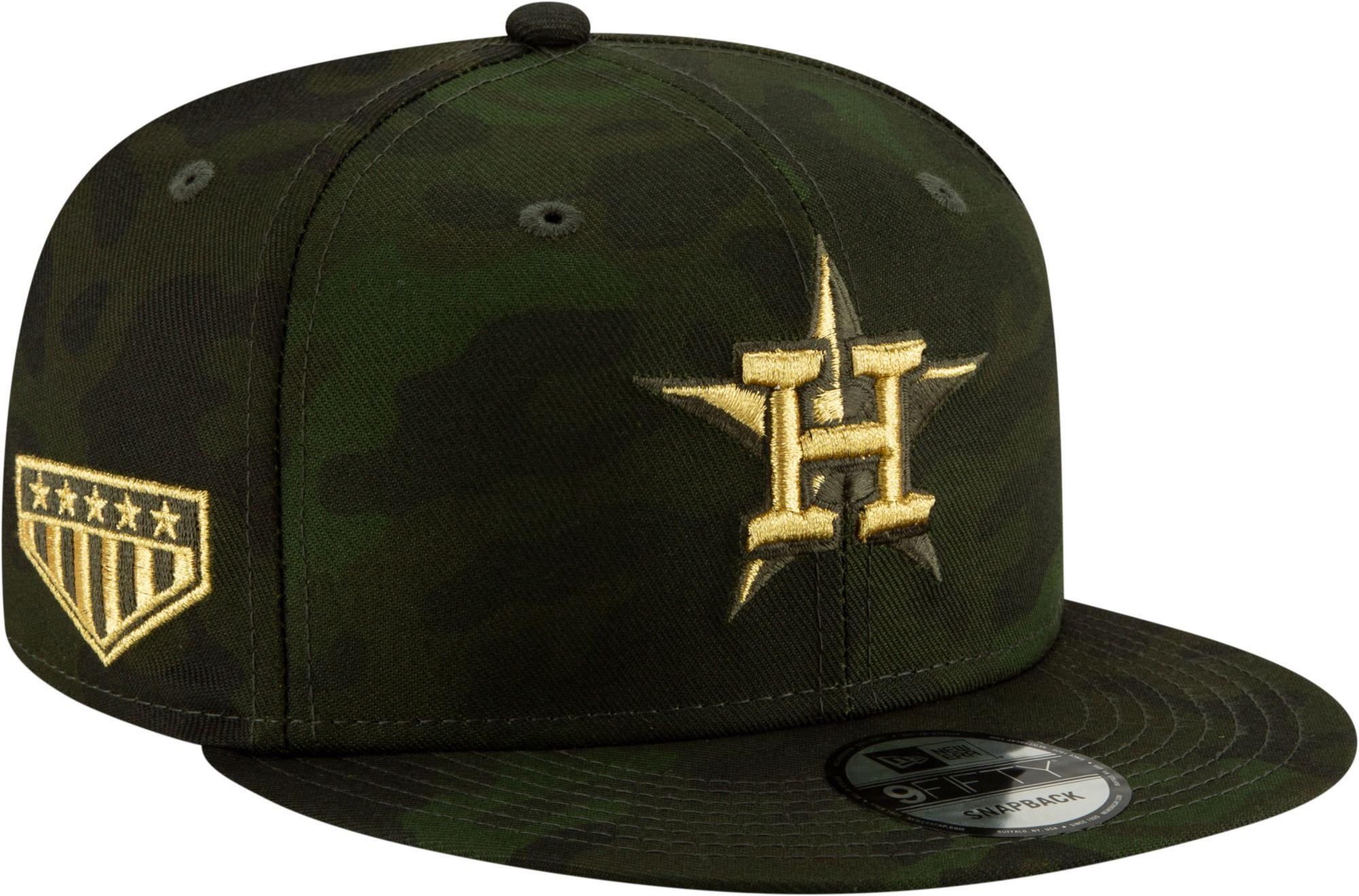 ef05d925d51206 New Era Men's Houston Astros 9Fifty Armed Forces Adjustable Snapback ...