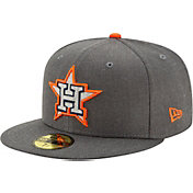 New Era Men's Houston Astros 59Fifty Gray Heather Wool Fitted Hat