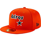 New Era Men's Houston Astros Orange 59Fifty Clubhouse Fitted Hat