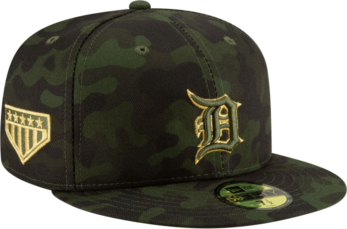 New Era Men's Detroit Tigers 59Fifty Armed Forces Fitted Hat