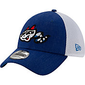 New Era Men's Rocket City Trash Pandas Blue 39Thirty Heather Neo Stretch Fit Hat