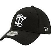 New Era Men's Minnesota Twins 39Thirty Black Batting Practice Stretch Fit Hat