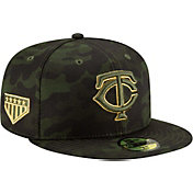 New Era Men's Minnesota Twins 59Fifty Armed Forces Fitted Hat