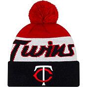 New Era Men's Minnesota Twins Script Knit Hat