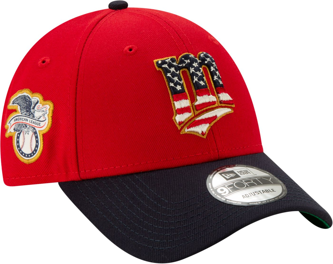 New Era Men's Minnesota Twins 9Forty 2019 4th of July Adjustable Hat