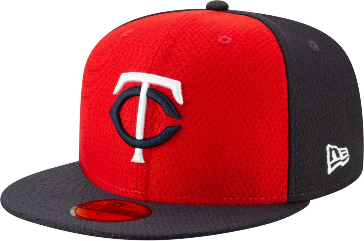 New Era Men's Minnesota Twins 59Fifty HexTech Batting Practice Fitted Hat