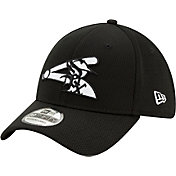 New Era Men's Chicago White Sox 39Thirty Black Batting Practice Stretch Fit Hat