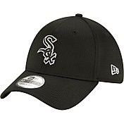New Era Men's Chicago White Sox Black 39Thirty Clubhouse Stretch Fit Hat