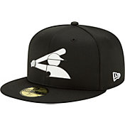 New Era Men's Chicago White Sox Black 59Fifty Clubhouse Fitted Hat