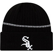 New Era Men's Chicago White Sox Black Sports Knit Hat