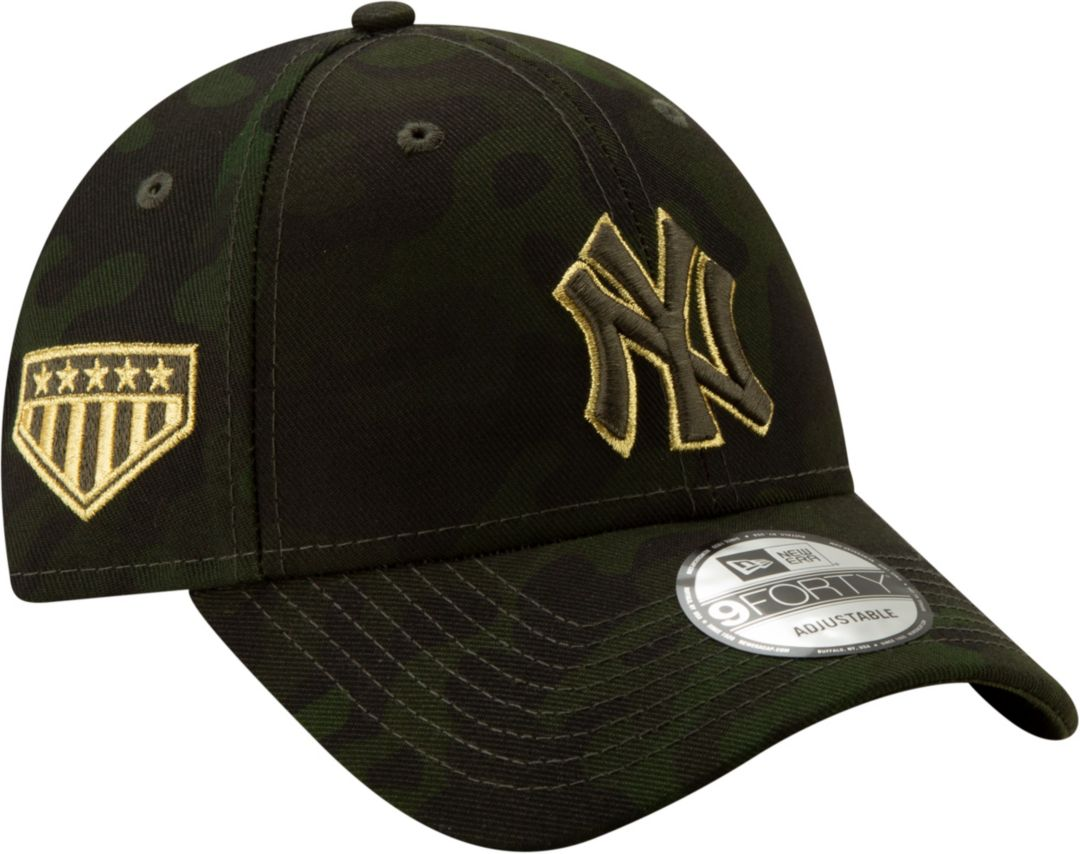3343f8226 New Era Men's New York Yankees 9Forty Armed Forces Adjustable Hat