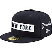 New Era Men's New York Yankees 59Fifty Navy Multi-logo Fitted Hat