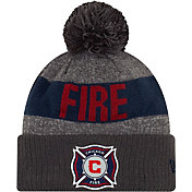 MLS Men's Chicago Fire Pom Knit Beanie