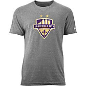 New Era Men's Louisville City FC Logo Heather Grey Tri-Blend T-Shirt