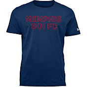 New Era Men's Memphis 901 FC Wordmark Navy T-Shirt