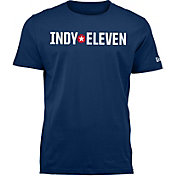 New Era Men's Indy Eleven Wordmark Navy T-Shirt