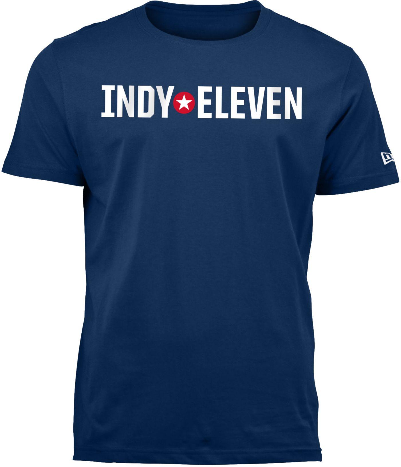 New Era Men's Indy Eleven Wordmark Navy T-Shirt