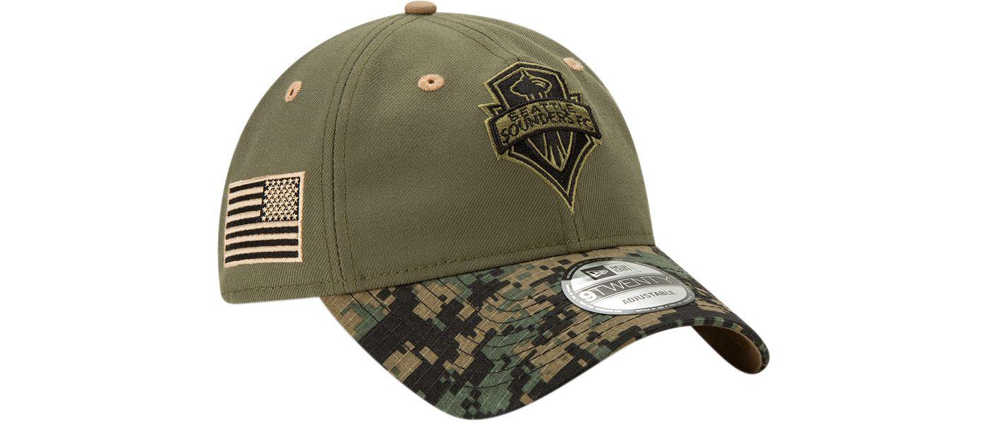 New Era Men's Seattle Sounders Military Appreciation 9Twenty Adjustable Hat