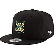 "New Era Men's Milwaukee Bucks 9Fifty ""Fear The Deer"" Black Adjustable Snapback Hat"
