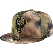 New Era Men's Milwaukee Bucks 9Fifty Camo Adjustable Snapback Hat