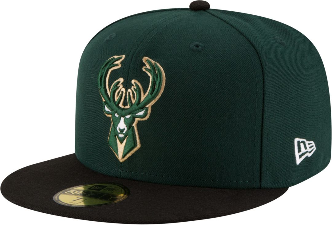 190635fce85d45 New Era Men's Milwaukee Bucks 59Fifty Fitted Hat | DICK'S Sporting Goods