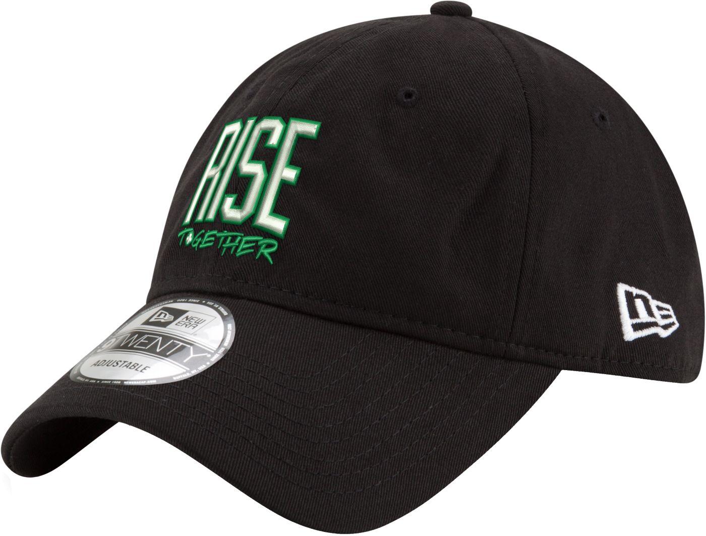 "New Era Men's Boston Celtics 9Twenty ""Rise Together"" Black Adjustable Hat"