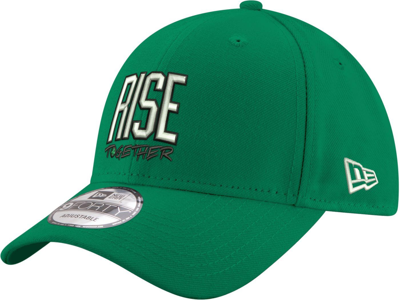 "New Era Men's Boston Celtics 9Forty ""Rise Together"" Kelly Green Adjustable Hat"
