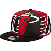 New Era Men's Miami Heat 9Fifty Adjustable Snapback Hat