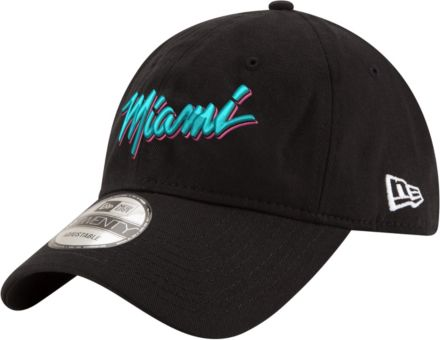 895c69d20e1 New Era Men  39 s Miami Heat 9Twenty City Edition Adjustable Hat