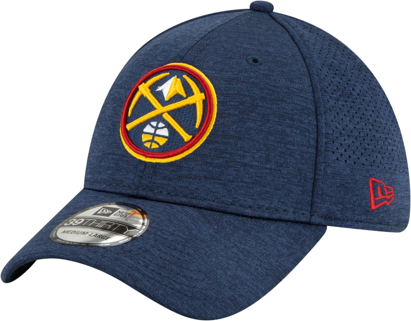 New Era Men's Denver Nuggets 39Thirty Stretch Fit Hat