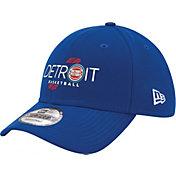 "New Era Men's Detroit Pistons 9Forty ""Detroit Basketball"" Royal Adjustable Hat"