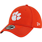 New Era Men's Clemson Tigers Orange Sideline Road 39Thirty Stretch Fit Hat