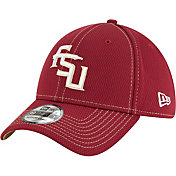 New Era Men's Florida State Seminoles Garnet Sideline Road 39Thirty Stretch Fit Hat