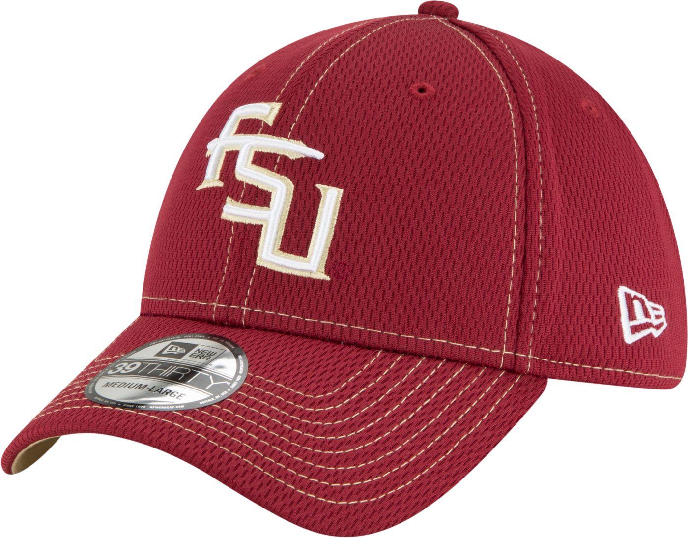 New Era Men's Florida State Seminoles Garnet Sideline Road 39Thirty Stretch Fit Hat