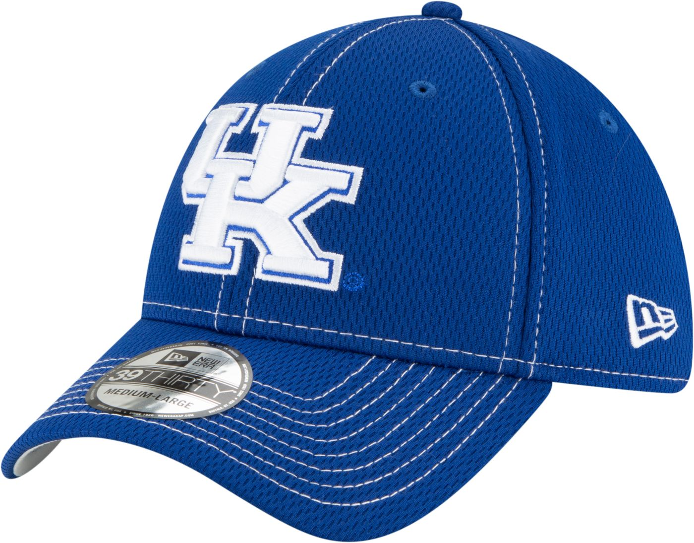 New Era Men's Kentucky Wildcats Blue Sideline Road 39Thirty Stretch Fit Hat
