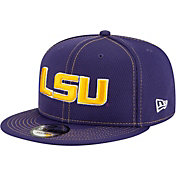 New Era Men's LSU Tigers Purple Sideline Road 9Fifty Adjustable Snapback Hat