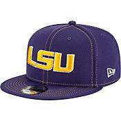 New Era Men's LSU Tigers Purple Sideline Road 9Fifty Adjustable Snapback Hat