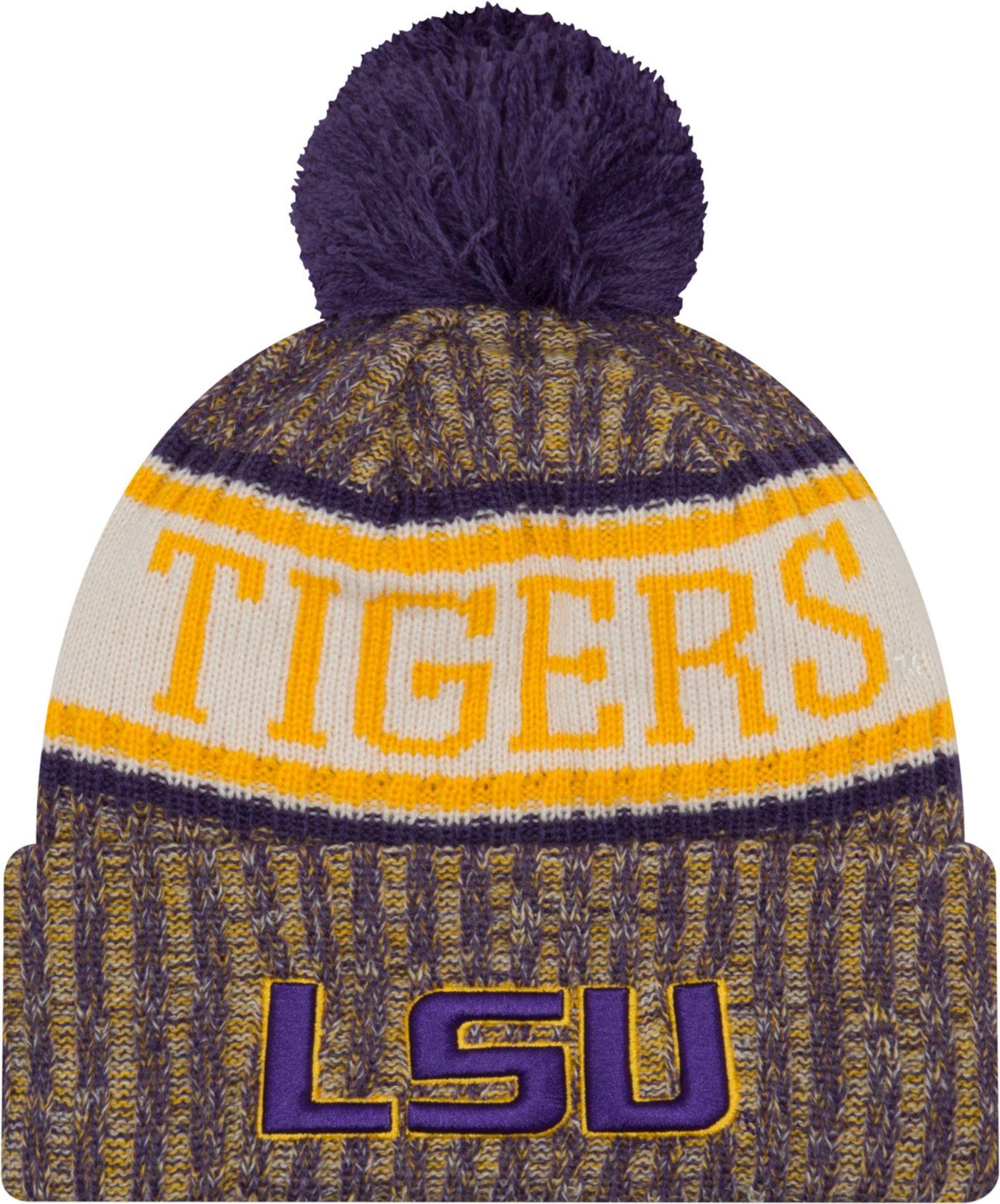 New Era Men's LSU Tigers Purple Sport Knit Beanie