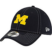 New Era Men's Michigan Wolverines Blue Sideline Road 39Thirty Stretch Fit Hat