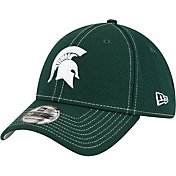 New Era Men's Michigan State Spartans Green Sideline Road 39Thirty Stretch Fit Hat