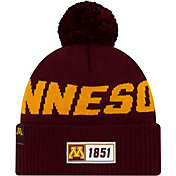 New Era Men's Minnesota Golden Gophers Maroon Sideline Road Cuffed Knit Beanie