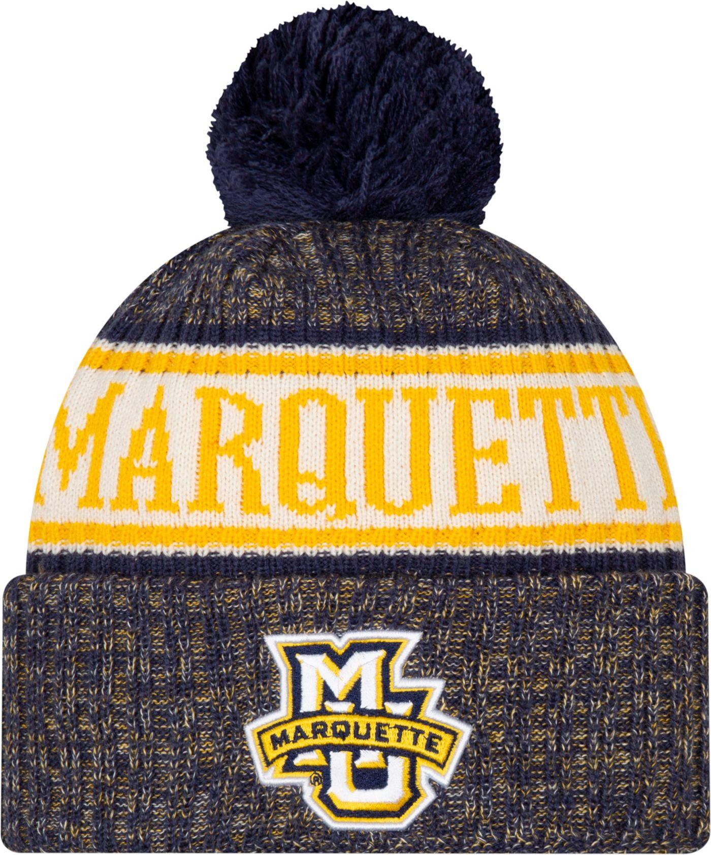 New Era Men's Marquette Golden Eagles Blue Sport Knit Beanie