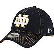 New Era Men's Notre Dame Fighting Irish Navy Sideline Road 39Thirty Stretch Fit Hat