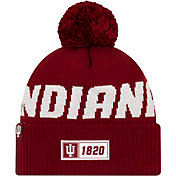 New Era Men's Indiana Hoosiers Crimson Sideline Road Cuffed Knit Beanie