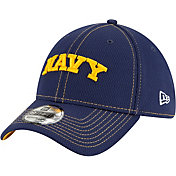 New Era Men's Navy Midshipmen Sideline Road 39Thirty Stretch Fit Navy Hat